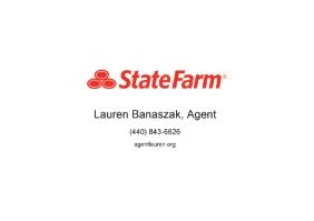 Lauren M Banaszak Insurance dba State Farm logo
