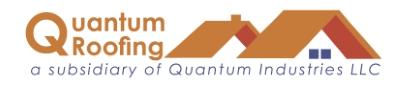 Company Logo Quantum Roofing