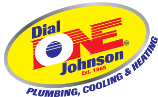 Dial One Johnson Plumbing Cooling and Heating logo
